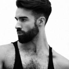 dick, mittellang moderne Frisuren für Männer