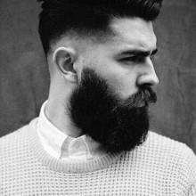 dick, von mittlerer Länge, Herren low-verblassen Haar -