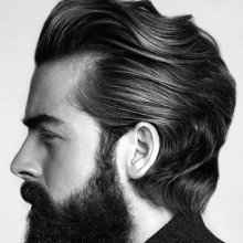 dickem, welligem Haar, Männer
