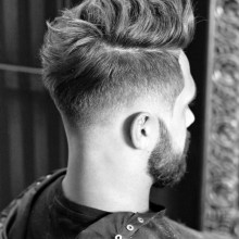 dicken, kurzen Frisuren für Herren