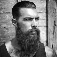 die traditionelle zurückgekämmt Herren Haare