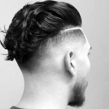 ducktail Herren Haut-fade-Haarschnitt -
