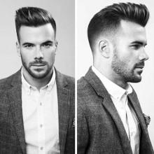 elegante moderne Männer Frisur