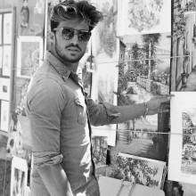 eleganten hipster Frisur Männer chaotisch wellige