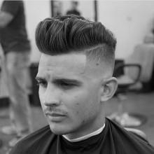 fade Jungs tolle Haarschnitt mittellang style