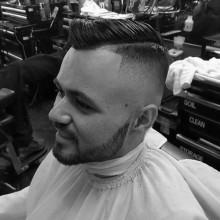 fade Kamm über haircut für Jungs