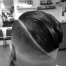 fade Kamm über haircut für Männer