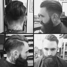 fade-ölspray zurück Jungs Haarschnitt