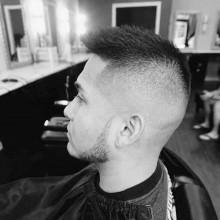 faux-hawk Haarschnitt Männer kurze Länge