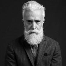 gentleman mit ölspray wieder old-school-Haar-und BART -