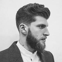 gepflegter old-school-Haar-Ideen für Männer