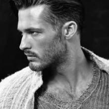 gescheitelt Frisur für Männer