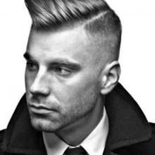 gescheitelt Frisuren für Männer