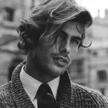 gewellte lange Frisuren für Männer
