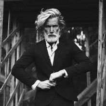 gewellte lange old-school-klassische Frisuren für Herren