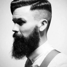 hairstyle with shaved sides for men