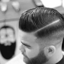 harte Teil Jungs der alten Schule fade Haarschnitt