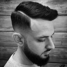 harte Teil Kamm über Frisuren für Männer