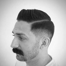harte Teil dünne kurze Haare look für Männer