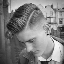 hartes Teil, mens Haare mit niedrigen fade