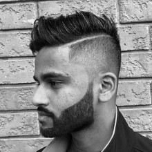 hartes Teil, short taper fade Haarschnitt für Männer
