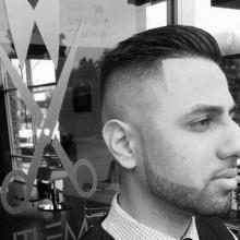 hautengen fade Haarschnitt für Männer