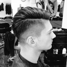 high Haut-fade-Haarschnitt für Männer