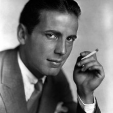 humphrey bogart mit historischen 1930er Jahre männliche Frisuren