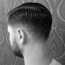 kurz Länge low fade Haare für Jungs