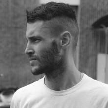 kurze Frisur für Männer undercut
