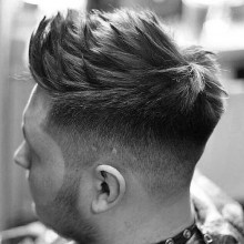 kurze Frisuren dickes welliges Haar für Herren