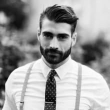 kurze Frisuren für Männer mit Bärten