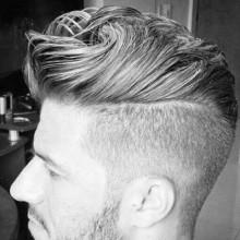 kurze Frisuren mit Seite rasierte für Männer