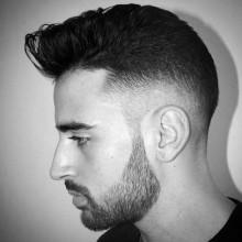 kurze modische Länge taper fade styles Jungs Haare