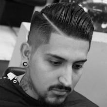 kurzes Haar verblasst Haarschnitt für Männer