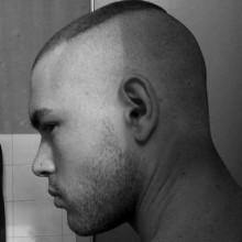 kurzes Länge Herren marine hoch und eng Haarschnitt