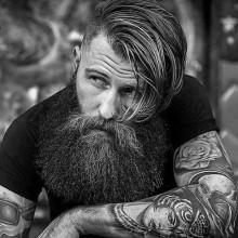 lang Länge der alten Schule Frisuren für Männer