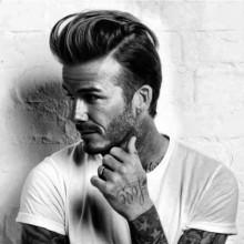 lang auf medium Haare zurück gekämmt Männer