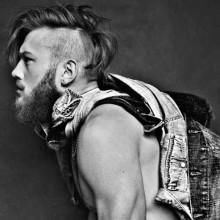 lang unterboten mohawk Frisuren für Männer