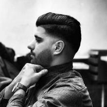 lange Haare Kegel verblasst für Männer