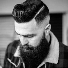 low fade schwer Frisur für Männer mit dicken Haaren
