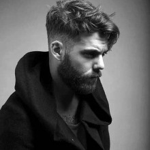 low taper fade Haarschnitt für Männer