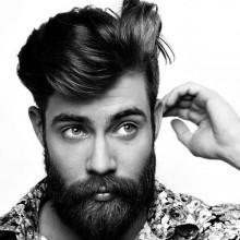 männlichen mittlere lange Frisuren für Dicke Haare