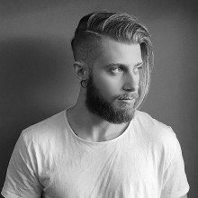 männlichen undercut Frisuren für langes Haar-Kamm über
