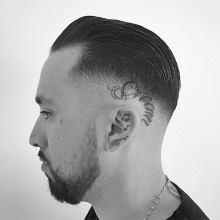 manly Herren Frisuren für dünnes kurzes Haar slicked back