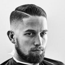 manly Kamm über Frisuren für Männer