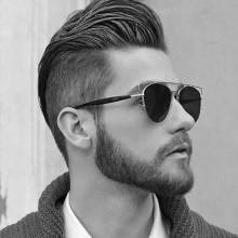 maskulinen Herren-Haarschnitte für mittlere gewellte Haare