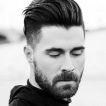 maskulinen Herren low-Haut-fade-Haarschnitt