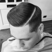 maskulinen Teil schwer Frisur für Männer mit dicken Haaren