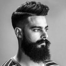 maskulinen low-temp-fade Haarschnitt für Jungs